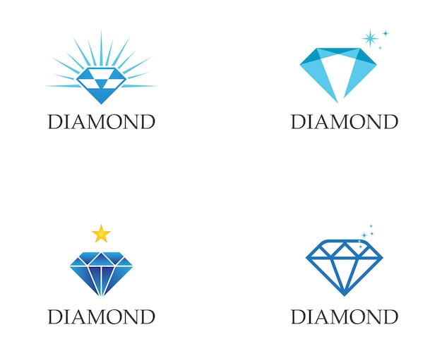 Diamant logo sjabloon