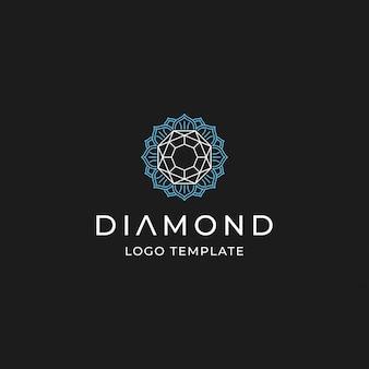 Diamant met bloem