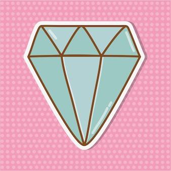 Diamant pictogram cartoon