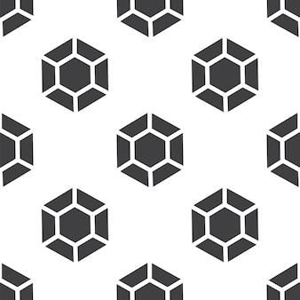 Diamant, vector naadloos patroon, bewerkbaar kan worden gebruikt voor webpagina-achtergronden, opvulpatronen