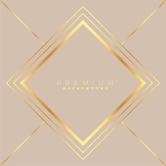 Diamant vorm gouden frame achtergrond