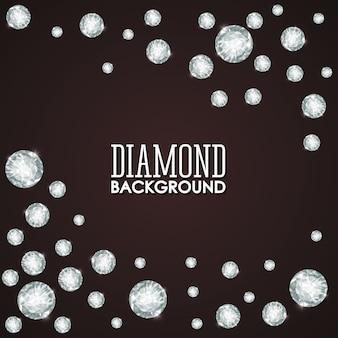 Diamantconcept met pictogramontwerp