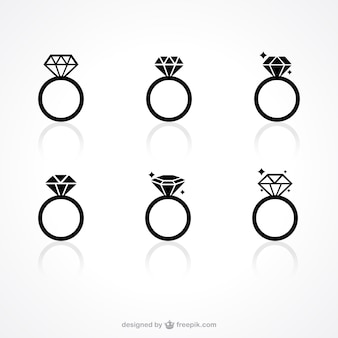 Diamanten ring iconen