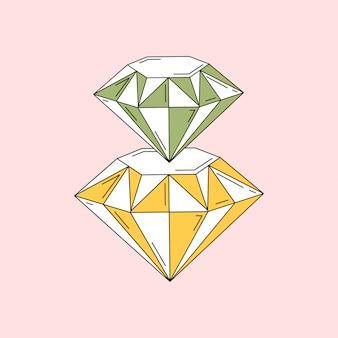 Diamanten zijn een beste vriendvector voor meisjes