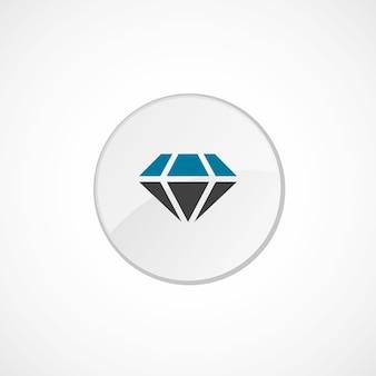 Diamantpictogram 2 gekleurd, grijs en blauw, cirkelbadge