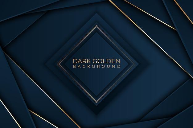 Diamantvorm met gouden detailsachtergrond