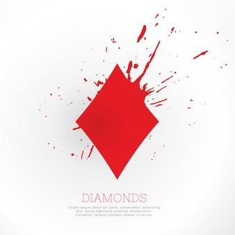 Diamantvorm met inkt splatter