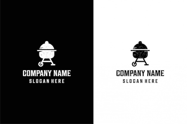 Diamond barbecue logo