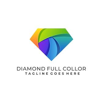 Diamond kleurrijke sjabloon