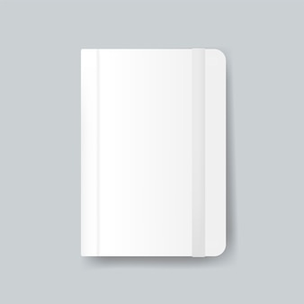 Diary cover design mockup vector