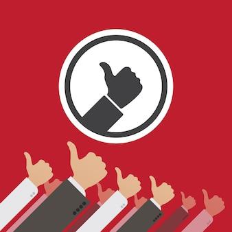 Dictatuur van de like. conceptuele illustratie geschikt voor reclame en promotie