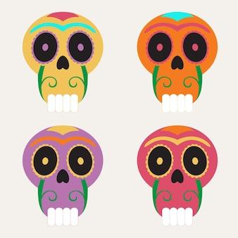 Die de muertos icon set