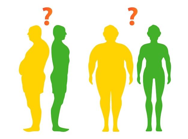 Dieet en gewichtsverlies profiel van een jongeman voor en na dieet en fitness