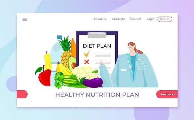 Dieet gezonde voeding van voedingsdeskundige
