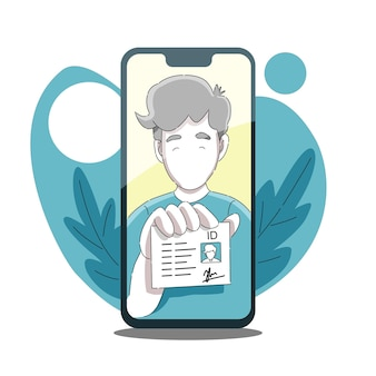 Dien of upload een persoonlijke identiteitskaart door een selfie-foto van de telefoon te maken