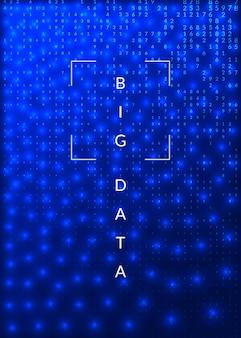 Diep leerconcept. digitale technologie abstracte achtergrond. kunstmatige intelligentie en big data. tech visual voor databasesjabloon. fractal diep leren achtergrond.