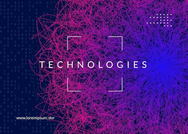 Diep leerconcept. digitale technologie abstracte achtergrond. kunstmatige intelligentie en big data. tech visual voor schermsjabloon. geometrische deep learning achtergrond.