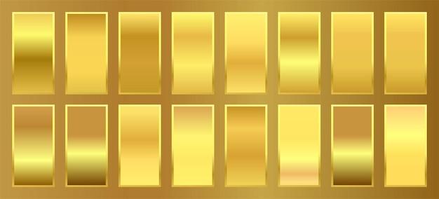 Diepgouden premium gradient stalen palet set 1