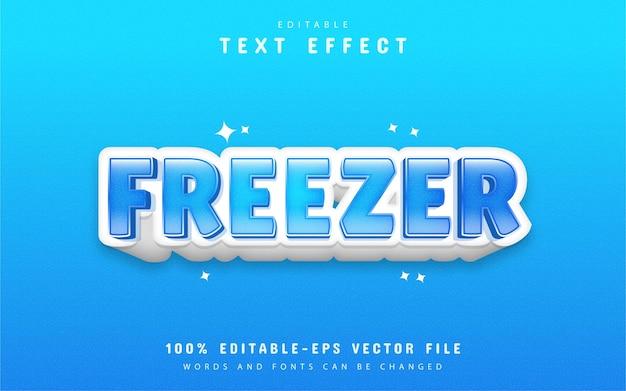 Diepvriezer teksteffect ontwerp