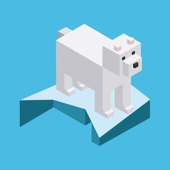 Dier in pixels ontwerp