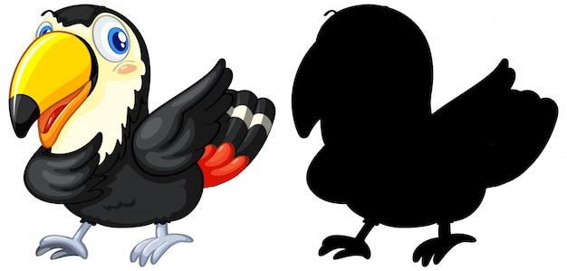 Dier met zijn silhouet