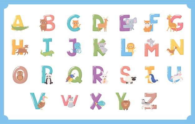 Dieren alfabetletters