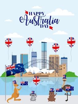 Dieren australië dag feest
