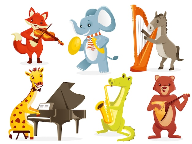 Dieren die instrumenten bespelen