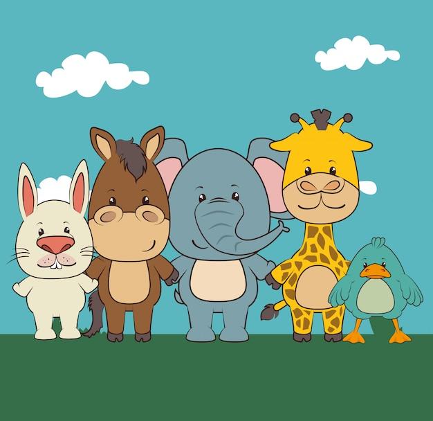 Dieren en dieren cartoons