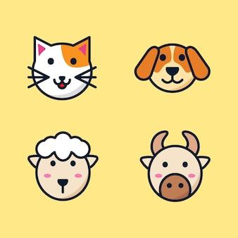 Dieren illustratie set