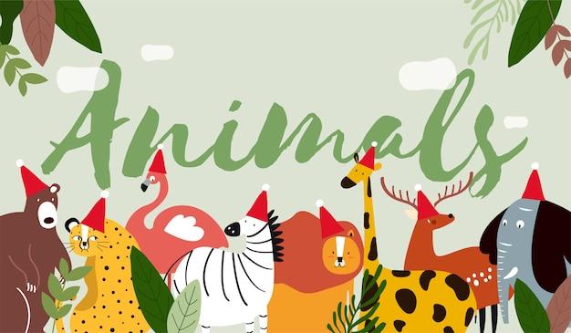 Dieren in een cartoon-stijl