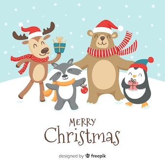 Dieren in kerstmis