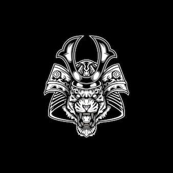 Dieren samurai mascotte ontwerp