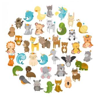 Dieren, schattige dierentuin
