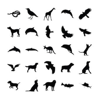 Dieren silhouet pack