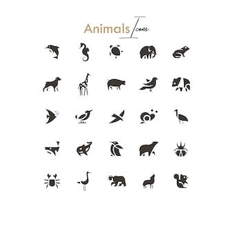 Dieren silhouetten pictogrammen