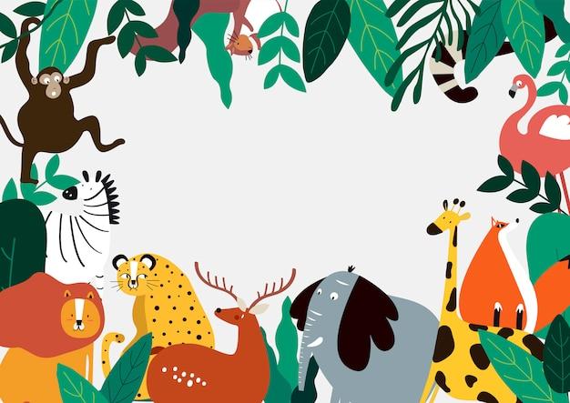 Dieren thema sjabloon vectorillustratie