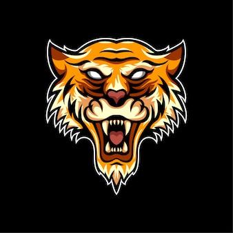Dieren tiger logo sportstijl