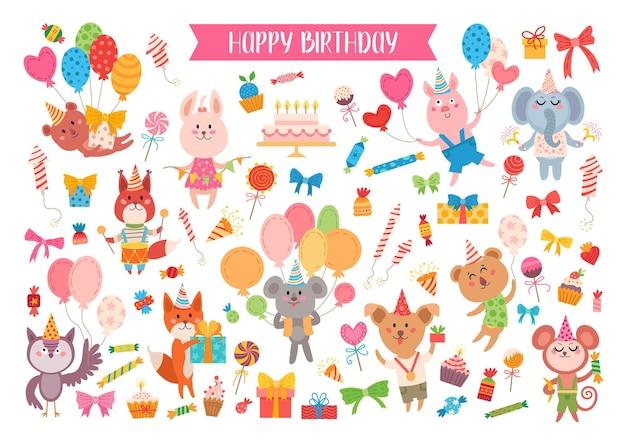 Dieren verjaardagsset
