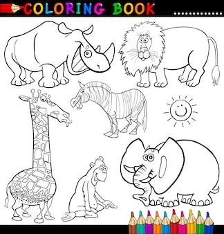 Dieren voor kleurboek of pagina