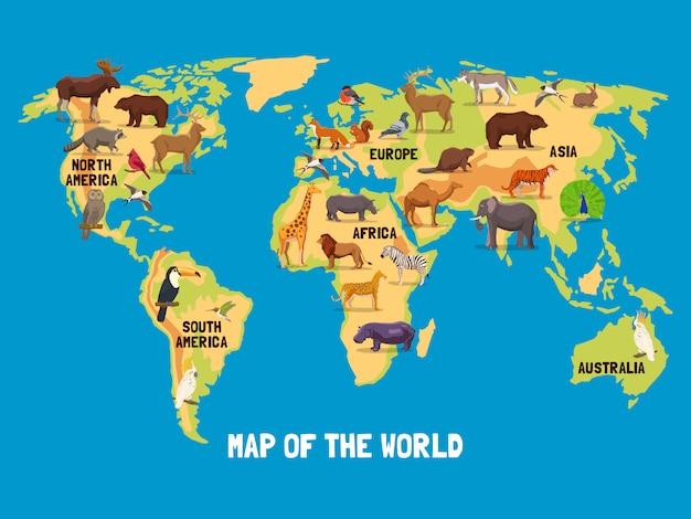 Dieren wereldkaart