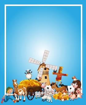 Dierenboerderij met lege banner
