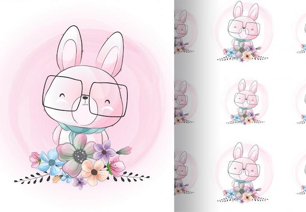 Dierenkonijntje met bloemen