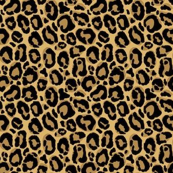 Dierenprint. naadloos patroon met luipaardbonttextuur. herhalend cadeaupapier, behang of scrapbooking.