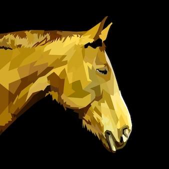 Dierenprint paard pop-art portret premium vector hoofd dier