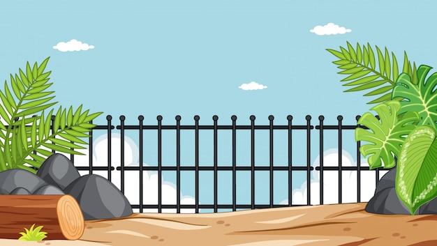 Dierentuinpark zonder dierenscène