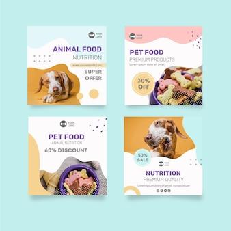 Dierenvoeding instagram-berichten