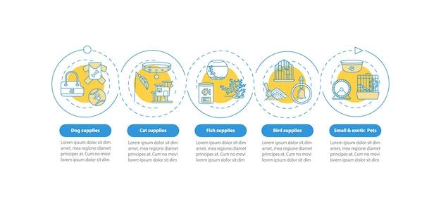 Dierenwinkel biedt een infographic-sjabloon