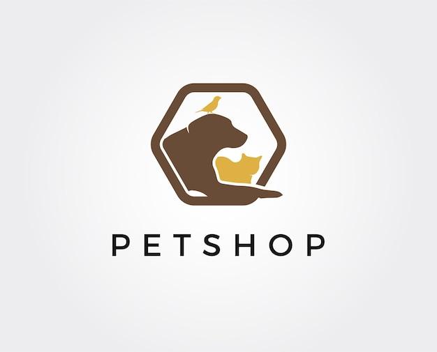 Dierenwinkel logo sjabloon