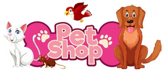 Dierenwinkel met veel schattige dieren